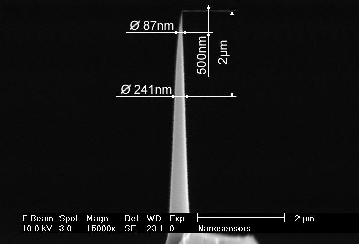 AFM探针NanoSensors 高长径比探针AR5-NCH 10根/盒